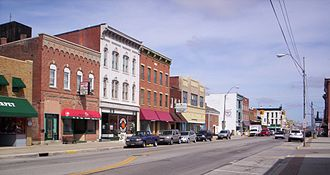Bucyrus, Ohio - Downtown Bucyrus on South Sandusky Avenue