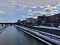 Downtown Oswego, New York as seen from the Oswego River Bridge - 20210221.jpg