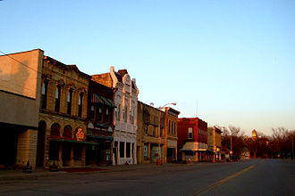 Marion, Kansas - Marion business district (2009)