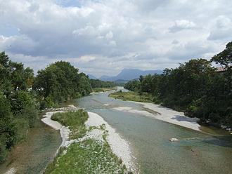 Crest, Drôme - Drôme River at Crest