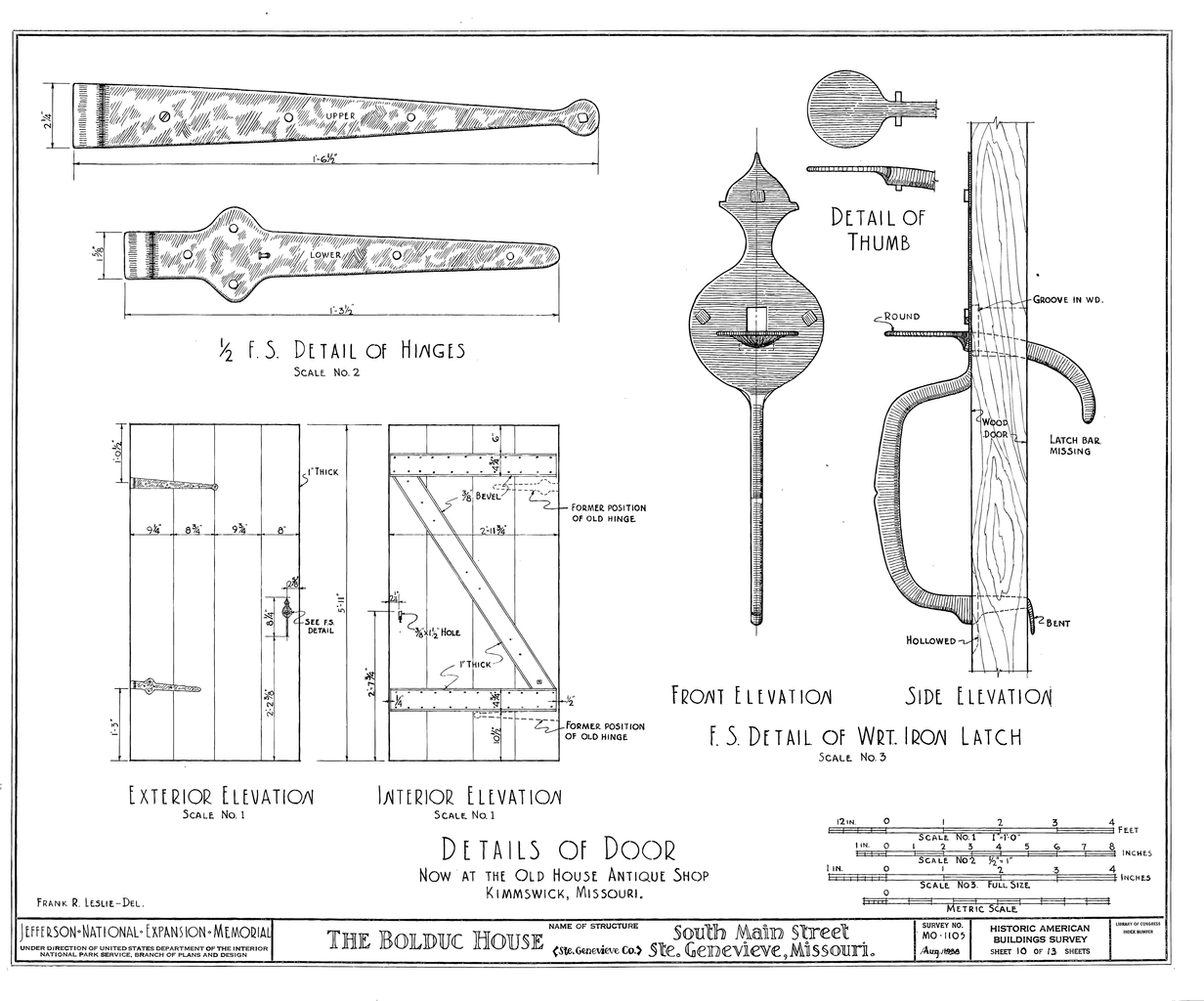 File Drawing Of Door And Latch Details In The Bolduc House