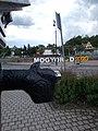 Drinking fountain spout and 'Mogyoród 2020' sign, 2020 Mogyoród.jpg