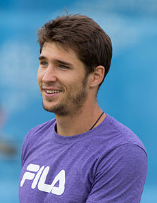 Dušan Lajović 5, Aegon Championships, London, UK - Diliff.jpg