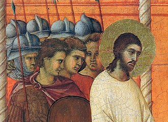 Arrest of Jesus - Image: Duccio Maesta detail 3