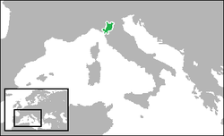 Duchy of Modena and Reggios geografiske placering