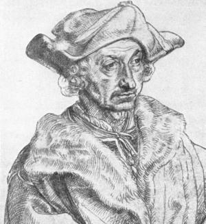 Sebastian Brant - Sebastian Brant by Albrecht Dürer
