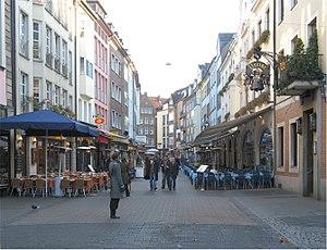 Altstadt (Düsseldorf) - Street in Altstadt