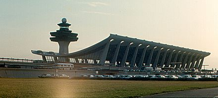 Dulles Airport in 1970 - Washington Dulles International Airport