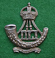 Durham Light Infantry cap badge (Kings crown Territorial post 1909).jpg