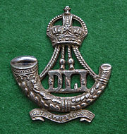 Durham Light Infantry cap badge (Kings crown Territorial post 1909)