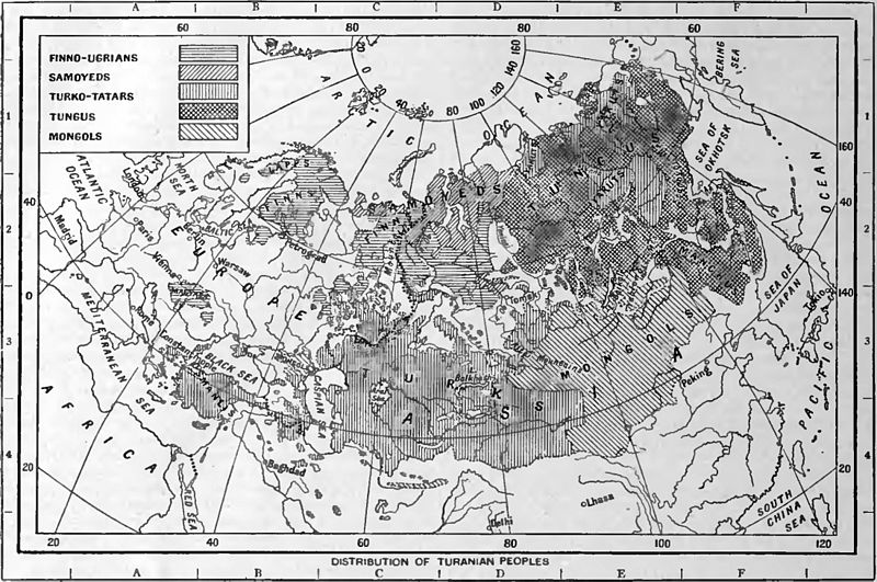 EB1922 Pan-Turanianism - Distribution of Turanian peoples.jpg