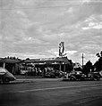 Eagle at Dusk, Gasoline filling station in Redding, California. June 1942. - Flickr - polkbritton.jpg