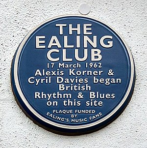 Ealing Jazz Club - Blue Plaque, unveiled 17 March 2012