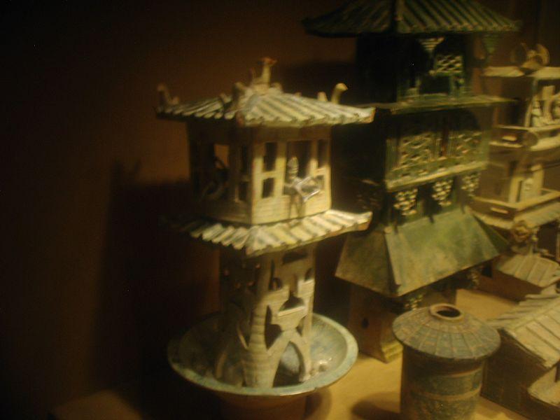 file earthenware architecture models eastern han dynasty