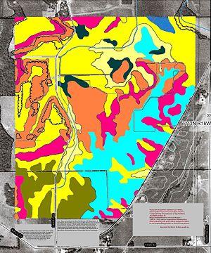 Rice County, Minnesota - Soils east of Nerstrand State Park