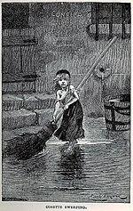"""Portrait of """"Cosette"""" by Émile Bayard, from the original edition of Les Misérables (1862)"""
