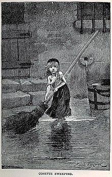 les mis atilde copy rables portrait of cosette by emile bayard from the original edition of les misatildecopyrables 1862