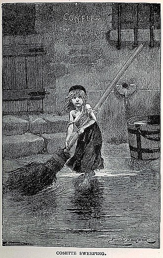 Les Misérables (musical) - The drawing of Cosette by Émile Bayard that served as the model for the musical's emblem.