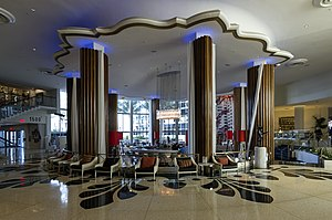 Eden Roc Miami Beach Hotel - The lobby, before its conversion in 2016 to Bar Nobu