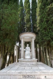Cripta della famiglia Spagnoli nel Cimitero monumentale di Perugia