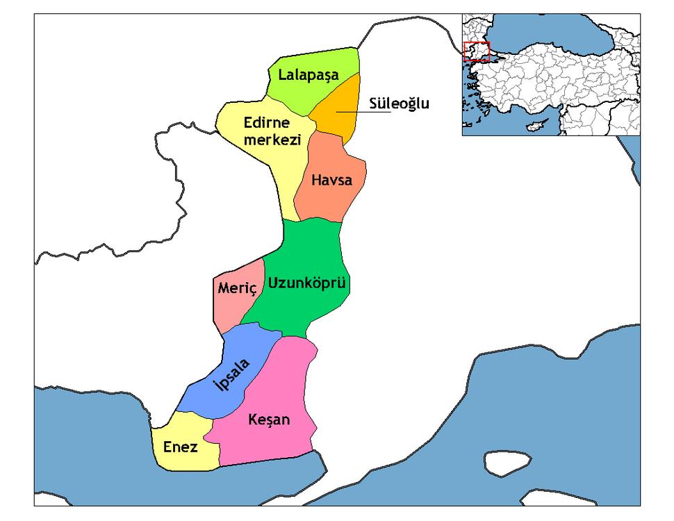 Edirne districts