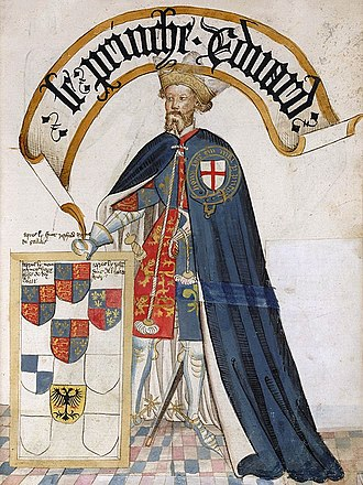 Bruges Garter Book - Image: Edward the Black Prince 1430