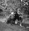 Een jongen met een hond, Bestanddeelnr 191-1127.jpg