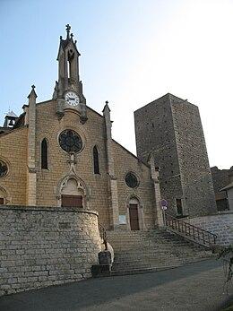 L'église et le donjon du château de Saint-Germain-au-Mont-d'Or