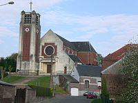 Eglise de Moislains par l'architecte Louis Faille au 1er mai 2010.jpg