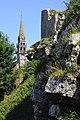 Eglise et chateau-LA ROCHE MAURICE.jpg