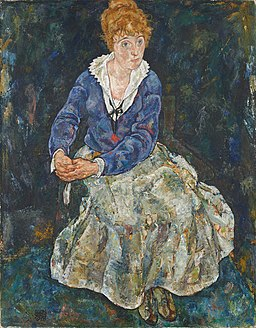 Portret żony Edith Schiel (1918, Belvedere Wiedeń)