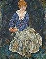 Egon Schiele - Bildnis der Frau des Künstlers, Edith Schiele - 1991 - Österreichische Galerie Belvedere.jpg