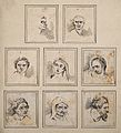 Eight physiognomies. Drawing, c. 1789, after D.N. Chodowieck Wellcome V0009125.jpg