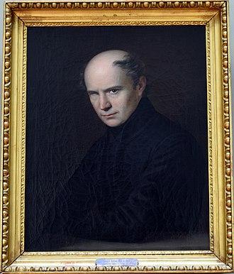 Portrait of Ferenc Kölcsey (Anton Einsle) - Image: Einsle kölcsey framed