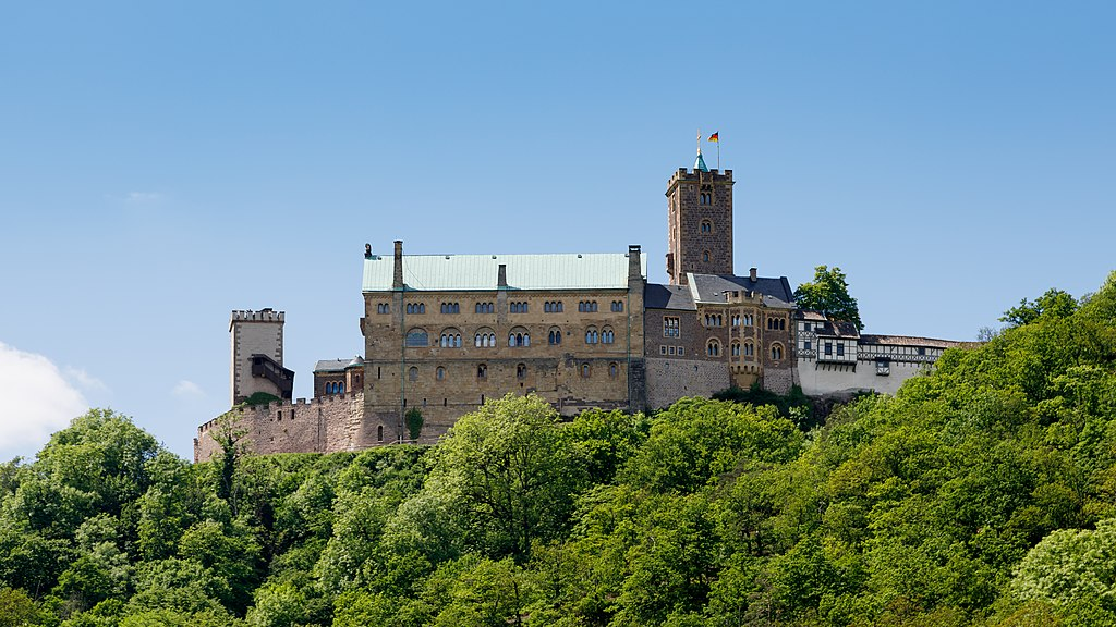 Eisenach Germany Wartburg-Castle-from-access-road-01