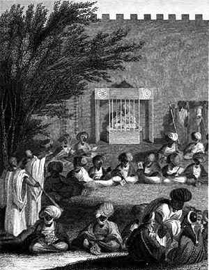 Dixon Denham - Denham and Clapperton received by Sheikh al-Kaneimi at Kuka