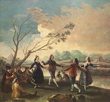 Goya: Der Tanz am Ufer des Manzanares, 1777. (Quelle: Wikimedia)