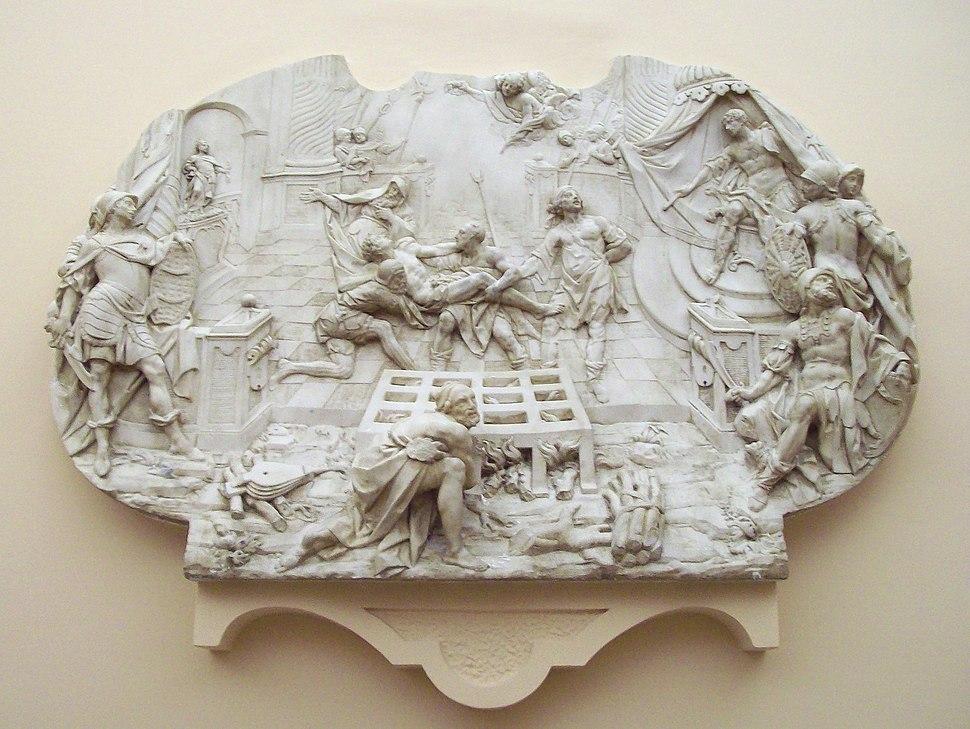 El martirio de San Lorenzo (Juan de León, MRABASF E-364) 01