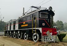 Preserved black electric locomotive