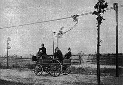«Electromote» Сименса — первый в мире троллейбус. 1882 год