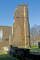 Elgin Cathedral 19th century buttress.jpg