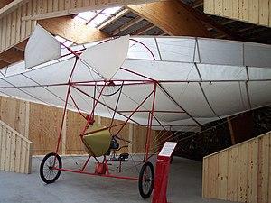 Ellehammer semi-biplane - Replica of the semi-biplane in the Danmarks Flymuseum