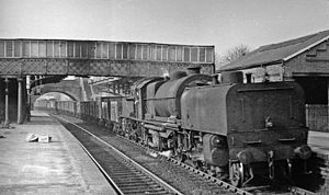 Elstree & Borehamwood railway station - A Garratt on an Up coal train in 1954