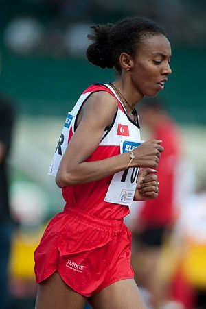 2001 European Athletics Junior Championships - Elvan Abeylegesse helped Turkey with her 3000/5000 m wins.