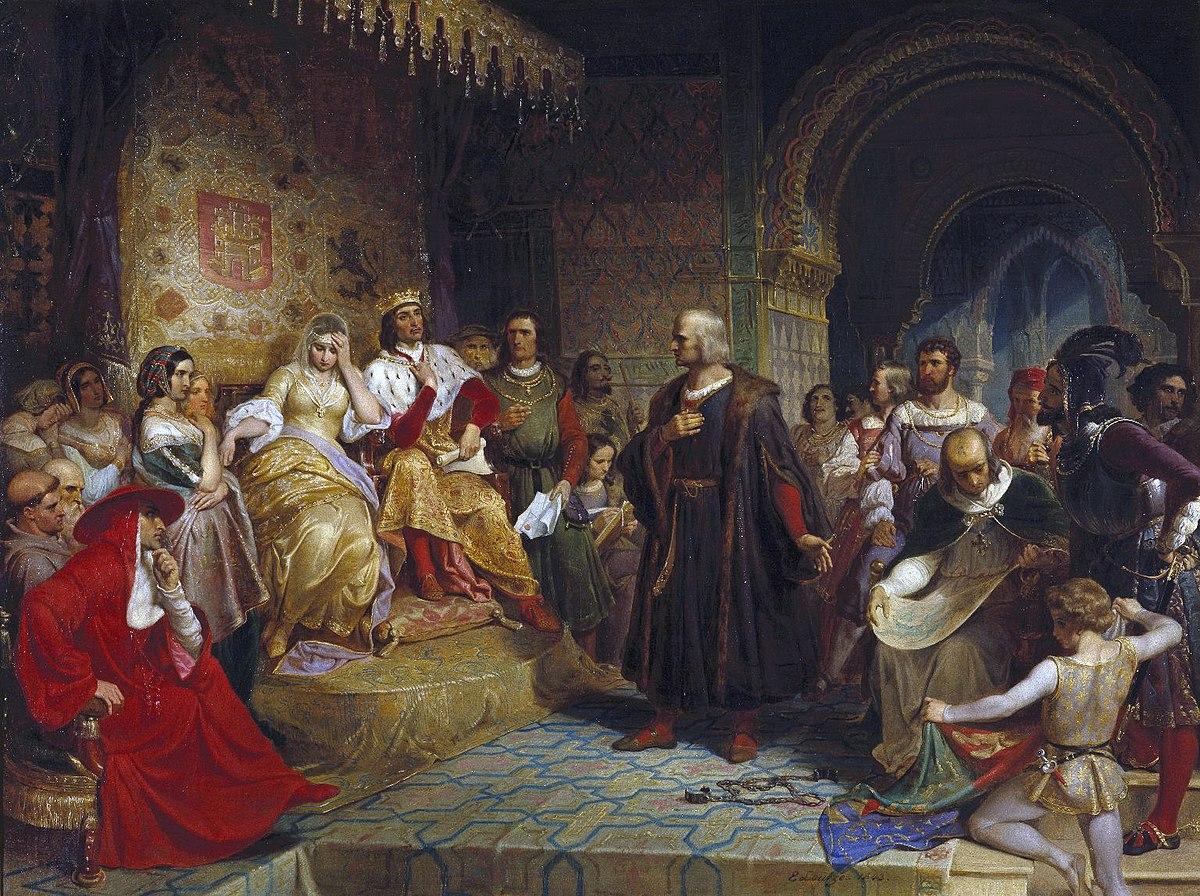 Emanuel Gottlieb Leutze - Columbus Before the Queen.JPG
