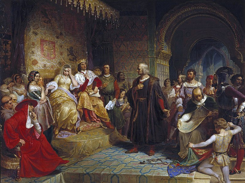 Emanuel Gottlieb Leutze - Columbus Before the Queen.JPG