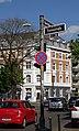 Emmastraße Ecke Oberbilker Allee 217 mit Blick auf gegenüberliegendem Eckhaus Kirchstraße mit Seite zur Oberbilker Allee, Düsseldorf-Oberbilk.jpg