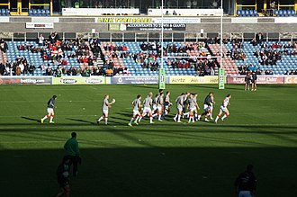 Kirklees Stadium - The England–Ireland game at the 2013 Rugby League World Cup set the stadium's attendance record