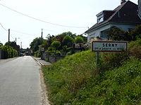 Enquin-les-Mines (Pas-de-Calais, Fr) city limit sign Serny.JPG