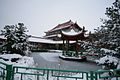Enta Group pagoda and pond in snow.jpg